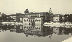 Burdwan - 'Darul Bahar' (within Dilkusha Gardens) from other side of Manoshsarovar (Tank)